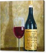Flawless Red Original Wine Painting Canvas Print