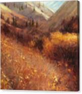Flecks Of Gold Canvas Print