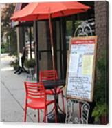 Flemington, Nj - Sidewalk Cafe Canvas Print