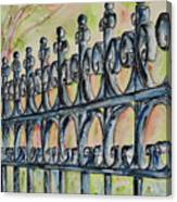 Fleur De Lisrod Iron Fence Canvas Print