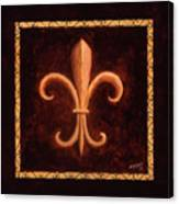 Fleur De Lys-king Louis Vii Canvas Print