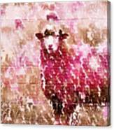 Fleur De Sheep Canvas Print