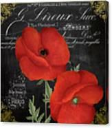 Fleur Du Jour Poppy Canvas Print