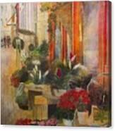Fleuriste Canvas Print