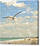 Flight From Canaveral Canvas Print