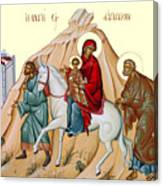 Flight Into Egypt Painting At Shepherds Field Canvas Print