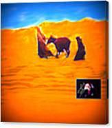 Flight Into Egypt Canvas Print