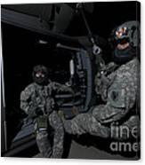 Flight Medics Practice With The Uh-60 Canvas Print