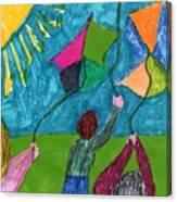 Flight Of Kites Canvas Print