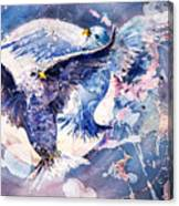 Flight Of The Doves Canvas Print