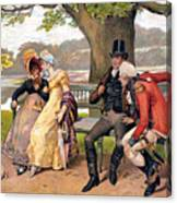 Flirtation, C1810 Canvas Print