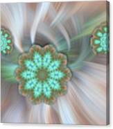 Floating Aqua Flakes Canvas Print