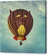 Floating Cat - Hot Air Balloon Canvas Print