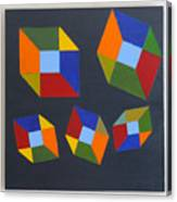 Floating Cubes 2 Canvas Print