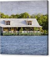 Floating House In La Parguera Puerto Rico Canvas Print