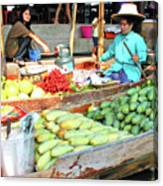 Floating Market In Thailand Canvas Print