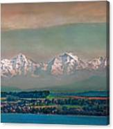 Floating Swiss Alps Canvas Print