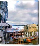 Floating Village Thailand Canvas Print