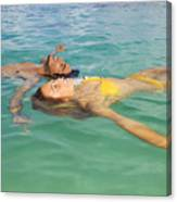Floating Young Couple Canvas Print