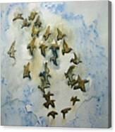 Flocking Birds Canvas Print