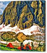 Floe Lake Painted Canvas Print