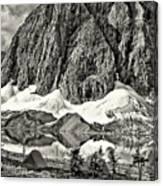 Floe Lake Sepia Canvas Print