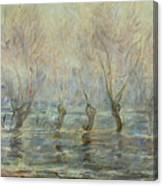 Flood In Giverny Canvas Print