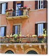 Floral Balcony Canvas Print