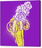 Floral Banana Canvas Print
