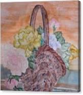Floral Basket Canvas Print
