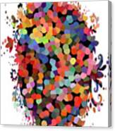 Floral Bouquet Abstract With Dots Canvas Print