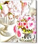 Floral Bouquets Pink Roses  Canvas Print