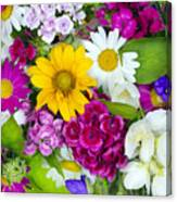 Floral Chaos Summer Collage Canvas Print
