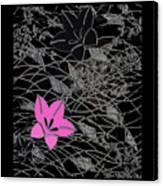 Floral Chirimen Canvas Print