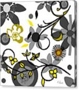Floral Collision Canvas Print