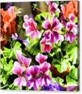 Floral Design 5 Light Canvas Print
