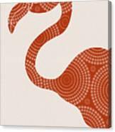 Floral Flamingo Canvas Print
