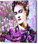 Floral Frida Vi Canvas Print