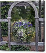 Floral Garden View Canvas Print