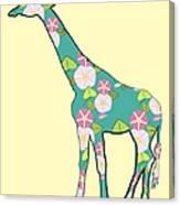 Floral Giraffe Canvas Print