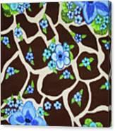 Floral Giraffe Print Canvas Print