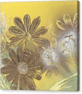Floral In Gold And Yellow Canvas Print