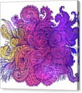 Purple Floral Indian Pattern Canvas Print