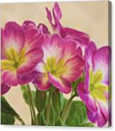 Floral Oil Painting Canvas Print