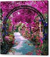 Floral Pathway Canvas Print