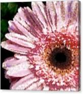 Floral Pink Creative Fragmented In Thick Paint Canvas Print