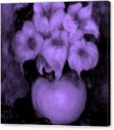 Floral Puffs In Purple Canvas Print