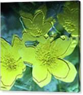 Floral Relief Canvas Print