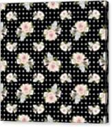 Floral Rose Cluster W Dot Bedding Home Decor Art Canvas Print