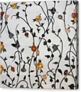 Floral Satin Canvas Print